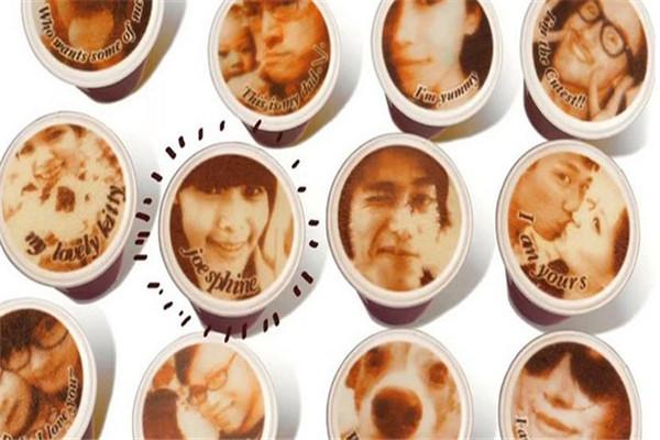 人像泡沫的拿铁咖啡机(五)