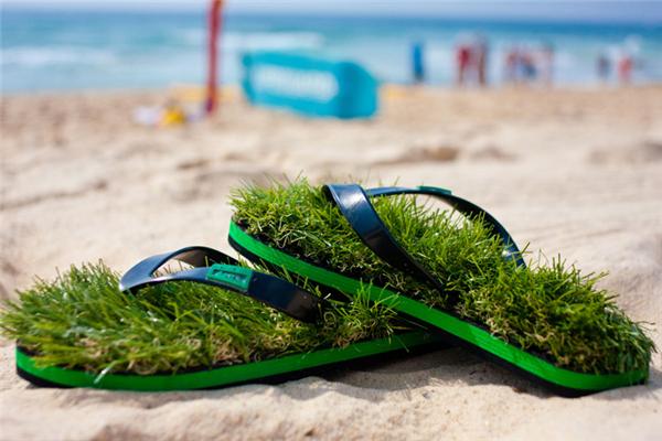 清凉绿色人造草鞋(三)