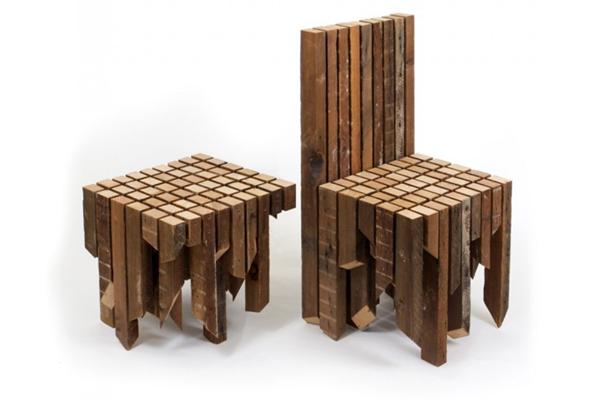 另类支离破碎桌椅