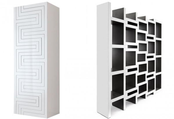 可调节的方块书柜
