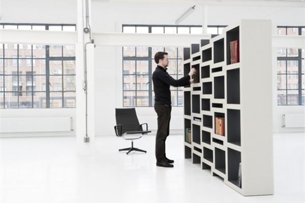可调节的方块书柜(四)