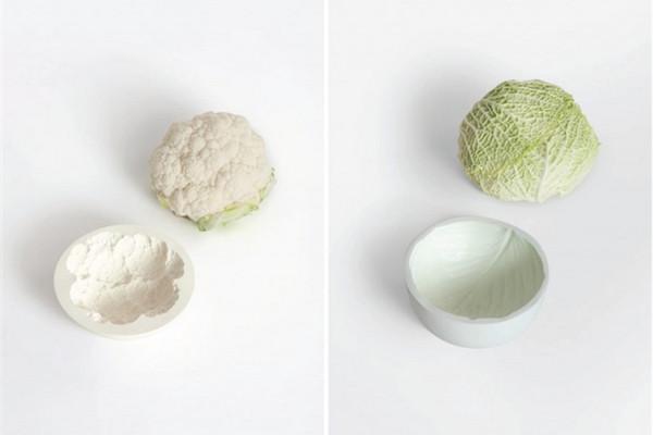 很可爱的蔬菜印记碗