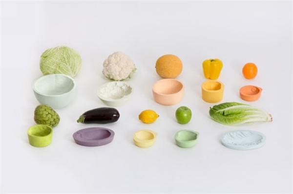 很可爱的蔬菜印记碗(八)