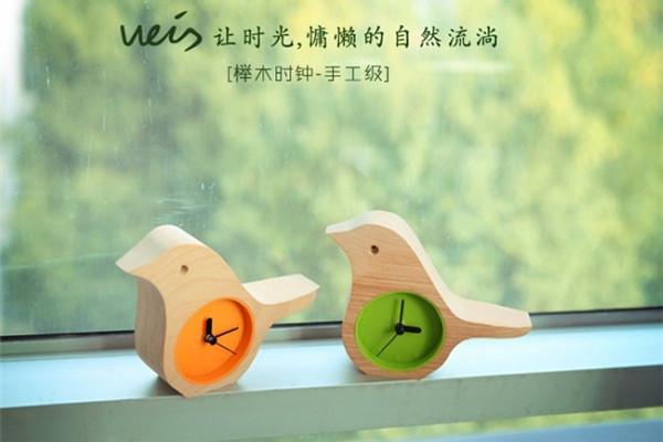 清新自然的晨鸟时钟(二)