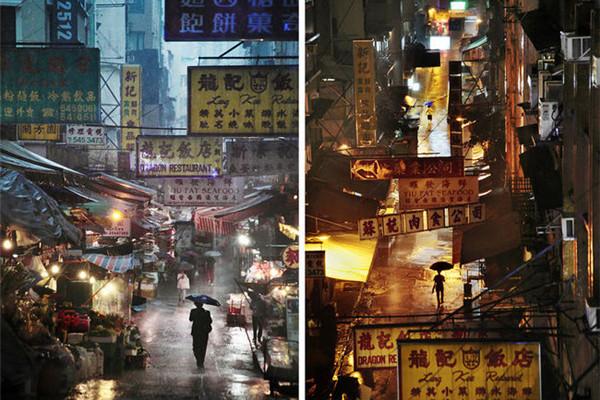 动人的雨中香港(四)
