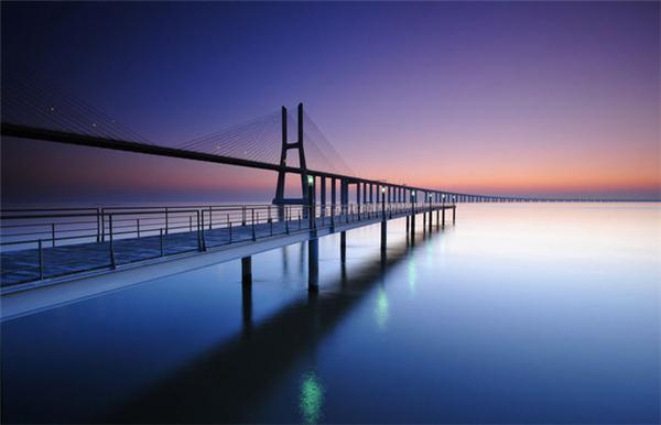 日出日落的迷人海景