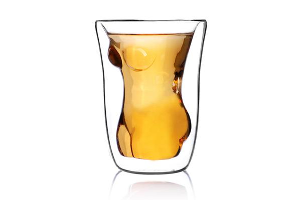 美女诱惑玻璃杯