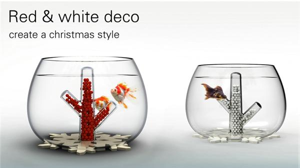 水晶珊瑚桌面鱼缸