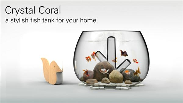 水晶珊瑚桌面鱼缸(二)