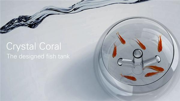 水晶珊瑚桌面鱼缸(三)