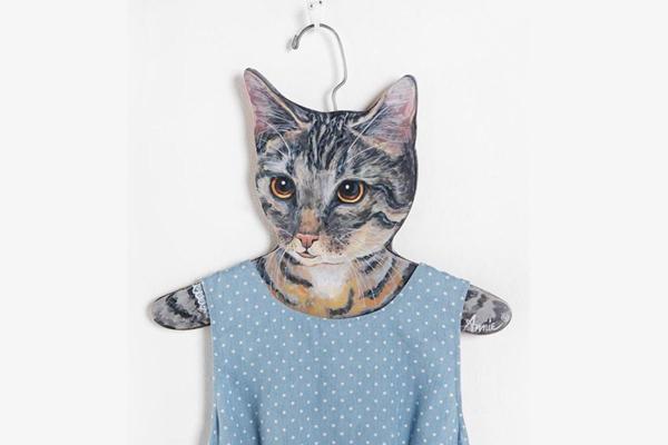有趣的动物头像衣架