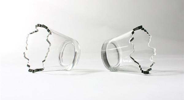 山水妖娆玻璃杯(二)