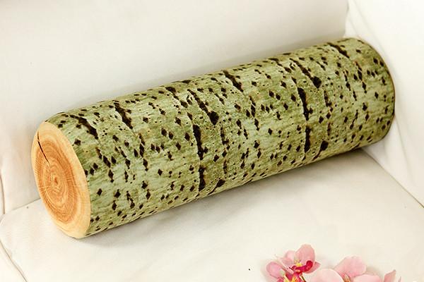 木头质感的靠枕