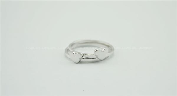 米奇纯银戒指