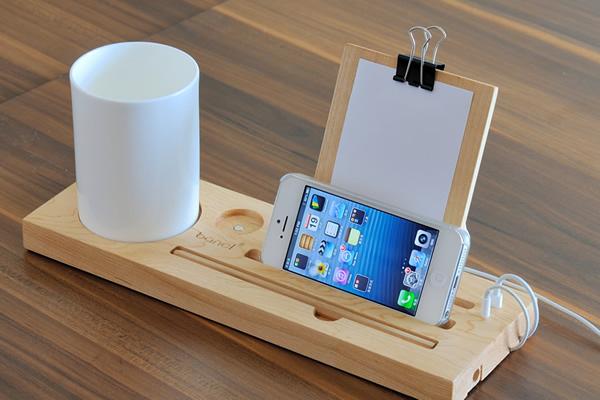 iPhone5 原木底座