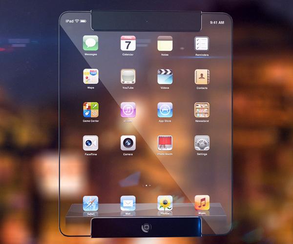 全透明概念iPad