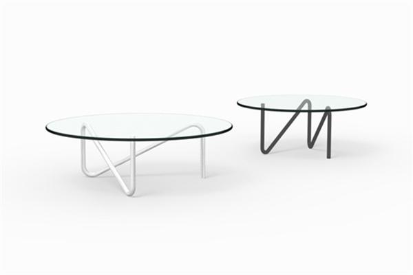简约钢管玻璃桌(三)