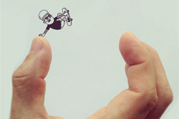 现实与实体结合的创意插画(四)