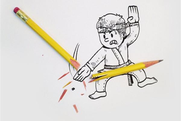 现实与实体结合的创意插画(十一)