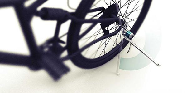 方便的自行车脚架锁(二)
