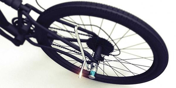方便的自行车脚架锁(三)