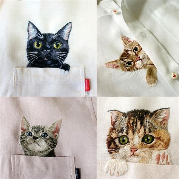 有趣的刺绣衬衫