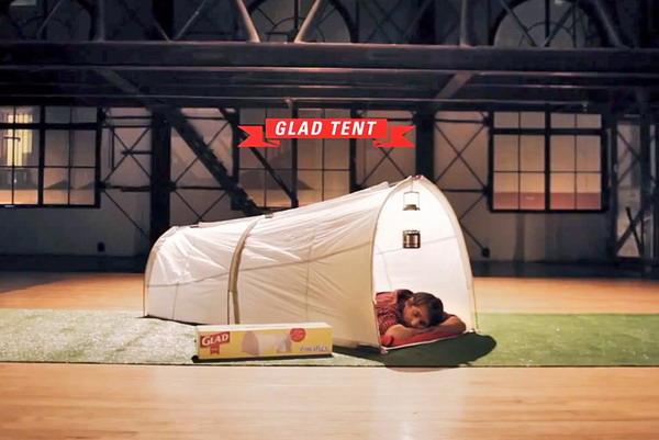 环保的垃圾袋帐篷