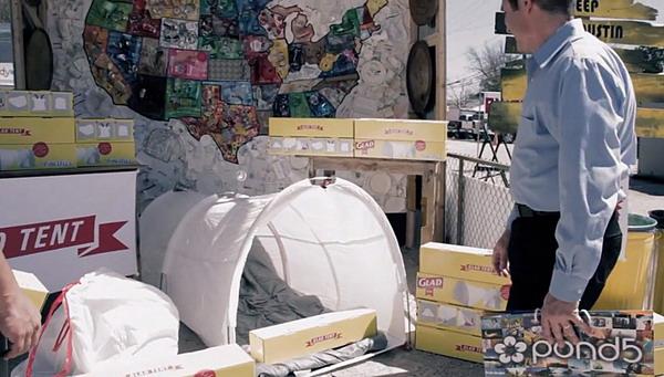 环保的垃圾袋帐篷(四)