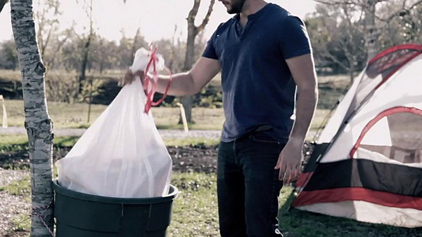 环保的垃圾袋帐篷(七)