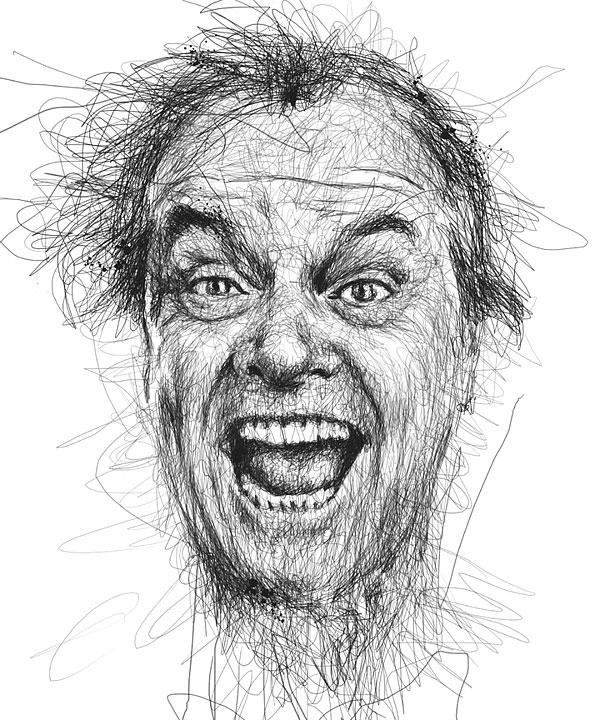 犀利的明星狂躁肖像画(二)