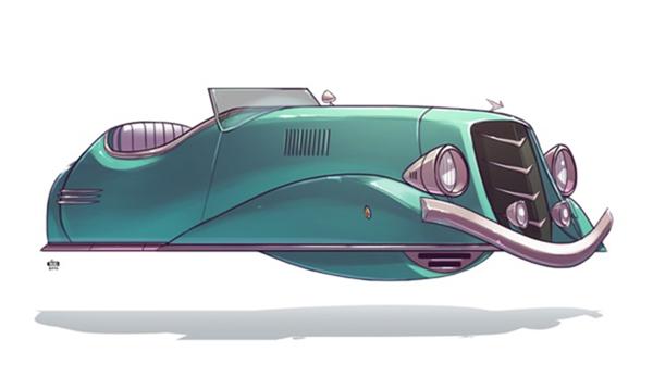 未来汽车绘画艺术