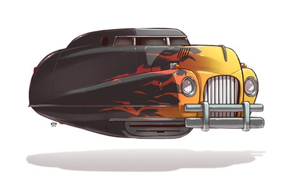 未来汽车绘画艺术(二)