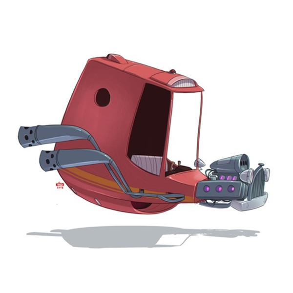 未来汽车绘画艺术(四)