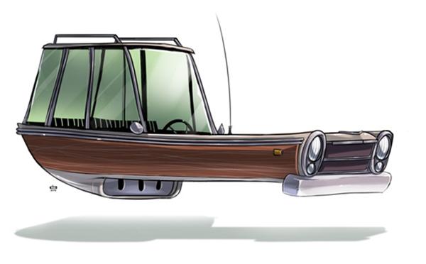 未来汽车绘画艺术(五)