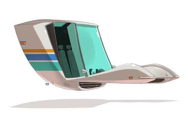 未来汽车绘画艺术(十二)