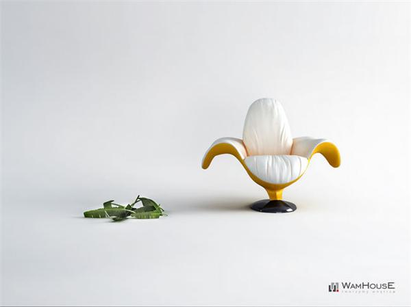 非常有趣的香蕉椅子