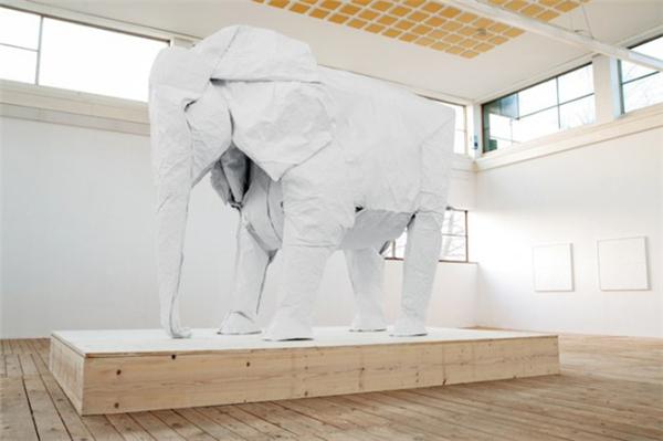 1比1折纸大象(四)