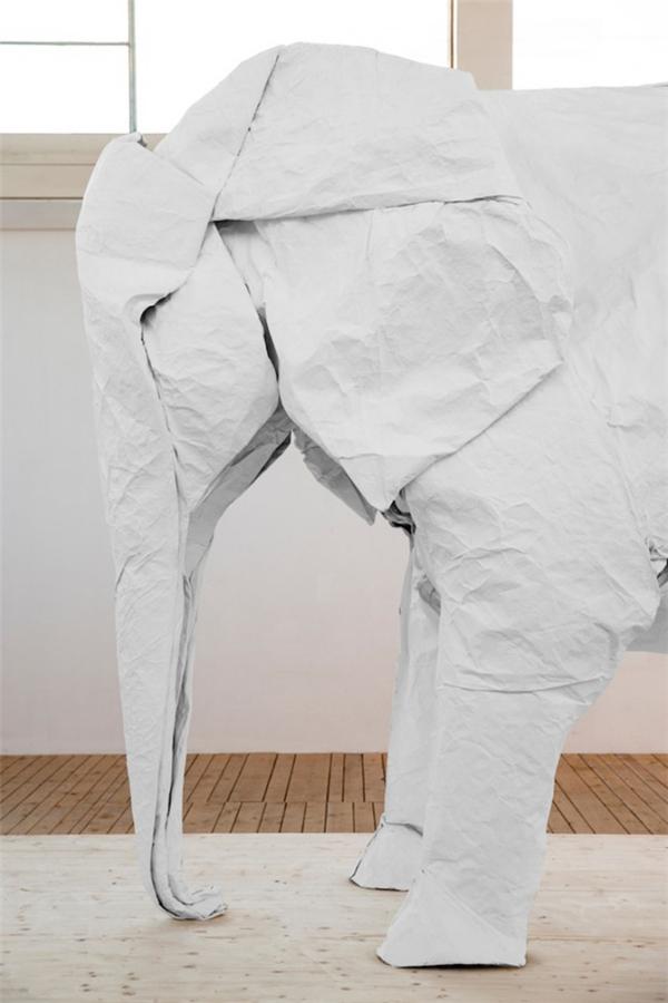 1比1折纸大象(五)