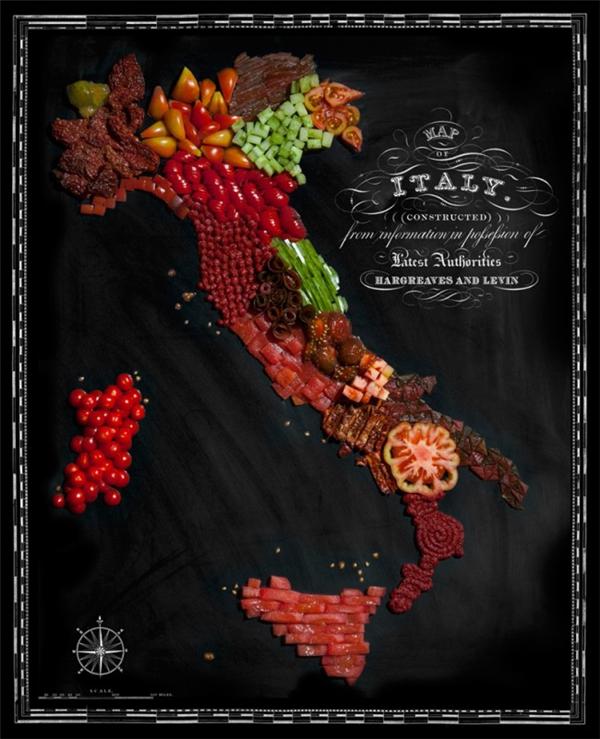 有趣的食物地图