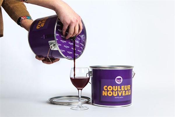 创意油漆桶红酒包装