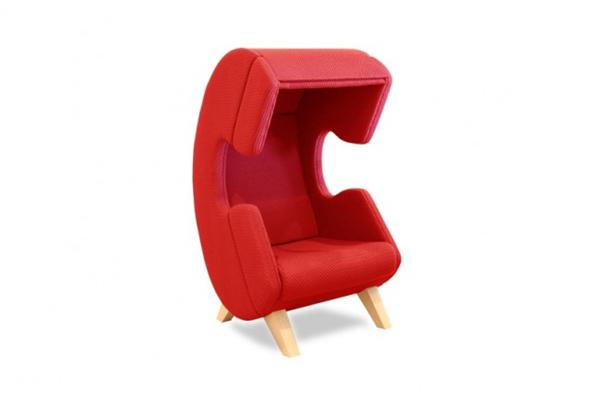 保证私人空间的听筒座椅(二)