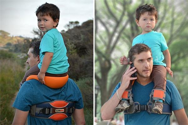 一起快乐玩耍的儿童肩椅