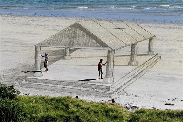 有趣的3D沙滩画(二)