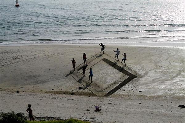 有趣的3D沙滩画(五)