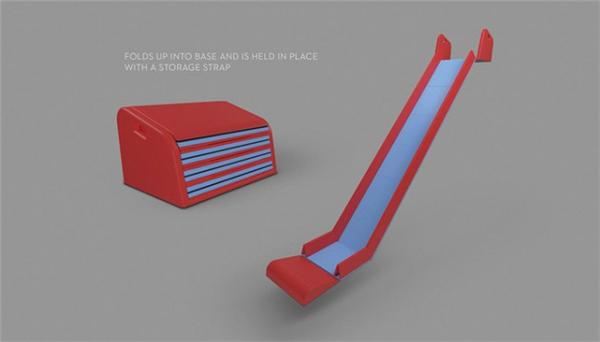 孩子天堂的折叠滑梯设计(七)