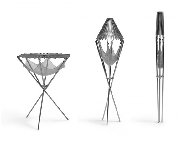 花朵型折叠烧烤架设计(二)
