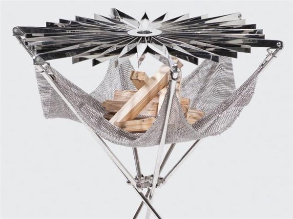 花朵型折叠烧烤架设计(四)