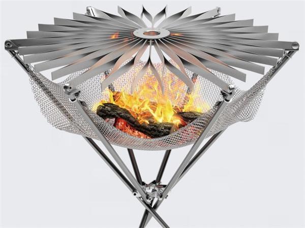 花朵型折叠烧烤架设计(五)