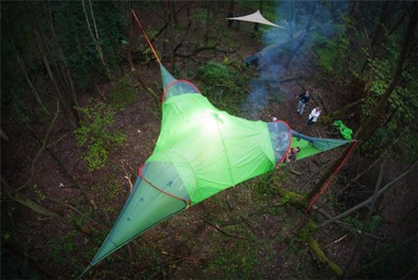 可衔接的悬浮帐篷