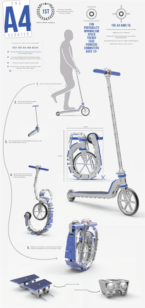 A4概念折叠滑板车(五)